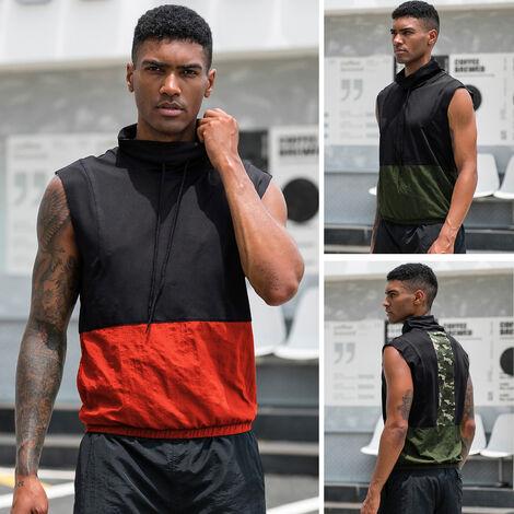 Chaleco de los deportes de los hombres, ropa deportiva corriente de secado rapida respirable de la camiseta de la aptitud
