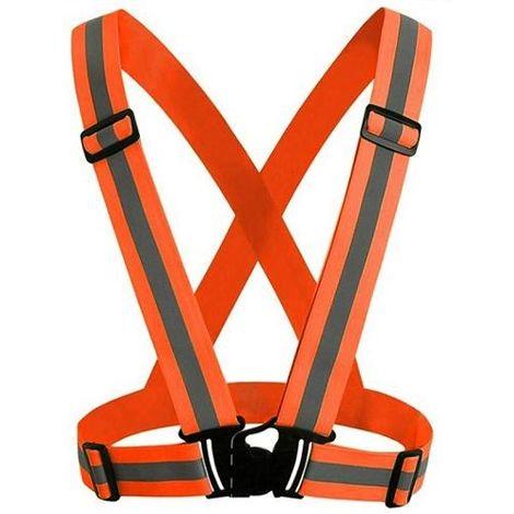 Chaleco de seguridad reflectante fluorescente unisex Naranja