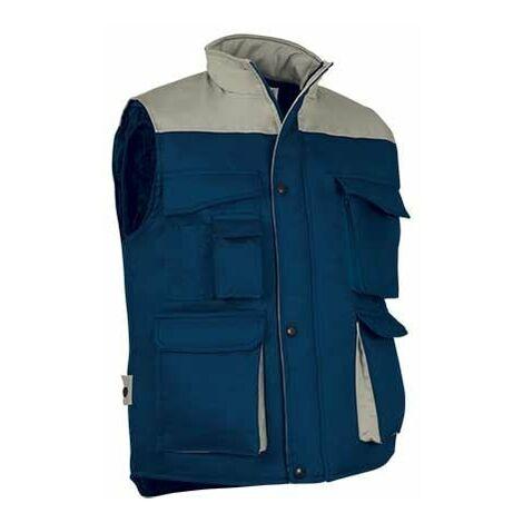 Chaleco multibolsillos en colores combinados prenda laboral de abrigo