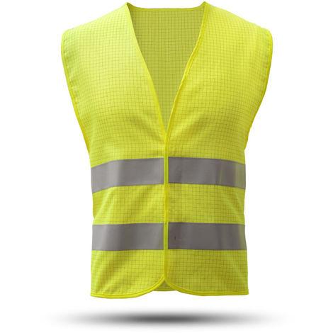 Chaleco reflectante antiestatico, amarillo fluorescente, talla unica
