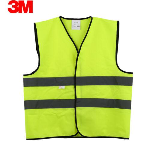 Chaleco reflectante de alta visibilidad 3M V10S0, ropa de trabajo de seguridad