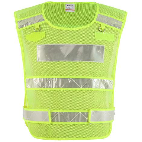 Chaleco reflectante de seguridad Anticongelante Ropa de trabajo,Amarillo fluorescente