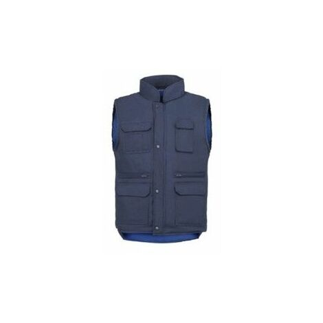 Chaleco Trabajo Xl Termico Tergal Multibolsillo Azul/Marino Vesin