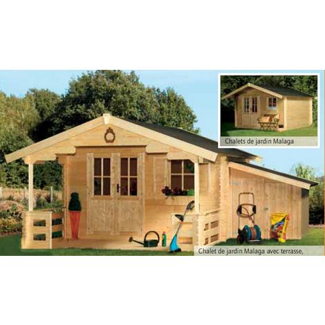 Chalet de Jardin Bois 340 x 340 cm 11.56 m² MALAGA