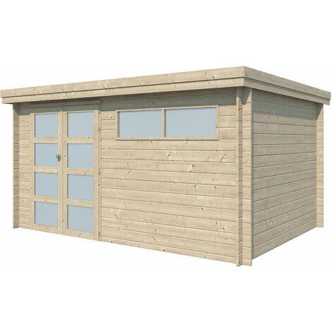 Chalet en bois 12.24 m² Moderne Avec gouttière