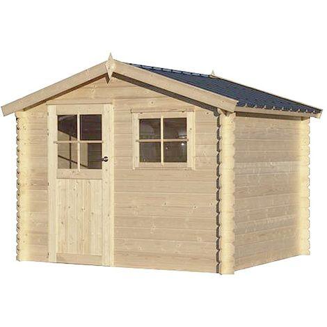 Chalet en bois 7.32 m² Kalmar Sans option - Vert (feutre bitumeux)