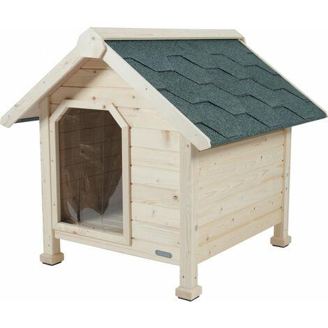 Chalet perrera de madera, tamaño Pequeño. dimensión ext. 73 x 77 x 72 cm de altura. casa para perros.