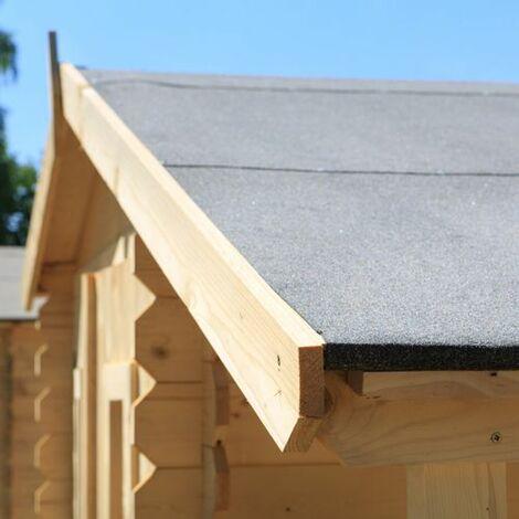 Instalación de la tela asfáltica del tejado