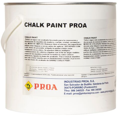 CHALK PAINT PROA BLANCO OLD 2,5L, BLANCO OLD 2,5lts