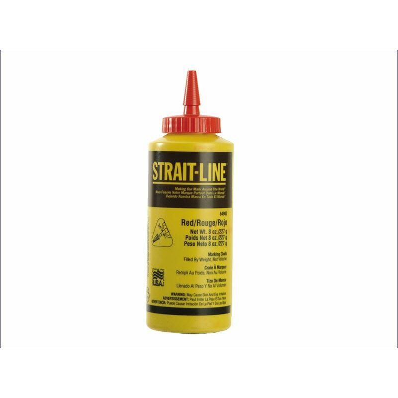 Image of Irwin ® Strait-line ® - Chalk Refill Red 227g (8oz) (STL64902)