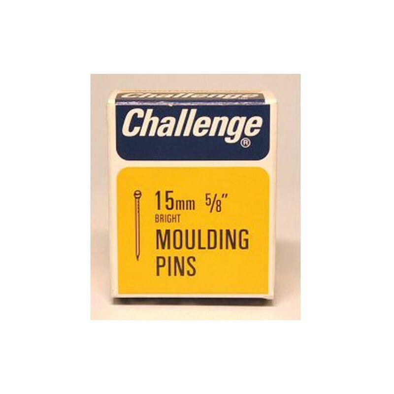 Moulding Pins (Veneer Pins) - Bright Steel (Box Pack) 15mm - 11002 - Challenge