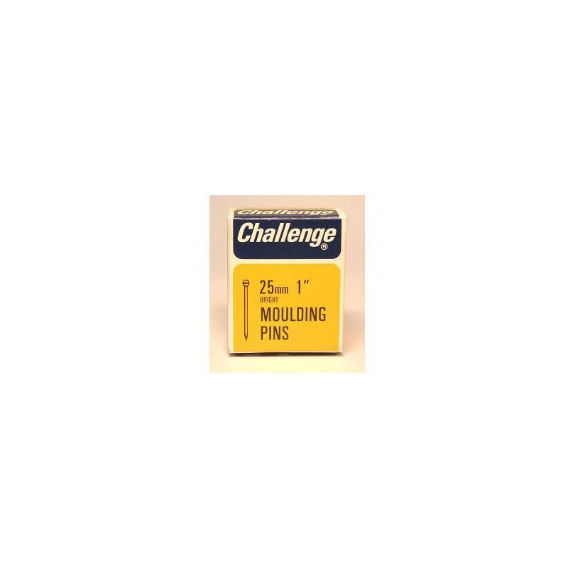 Image of Moulding Pins (Veneer Pins) - Bright Steel (Box Pack) 25mm - Challenge