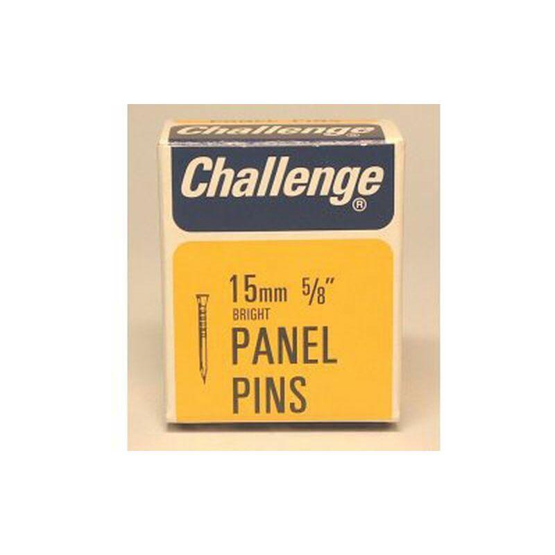 Challenge Panel Pins - Bright Steel (Box Pack) 15mm - 10604