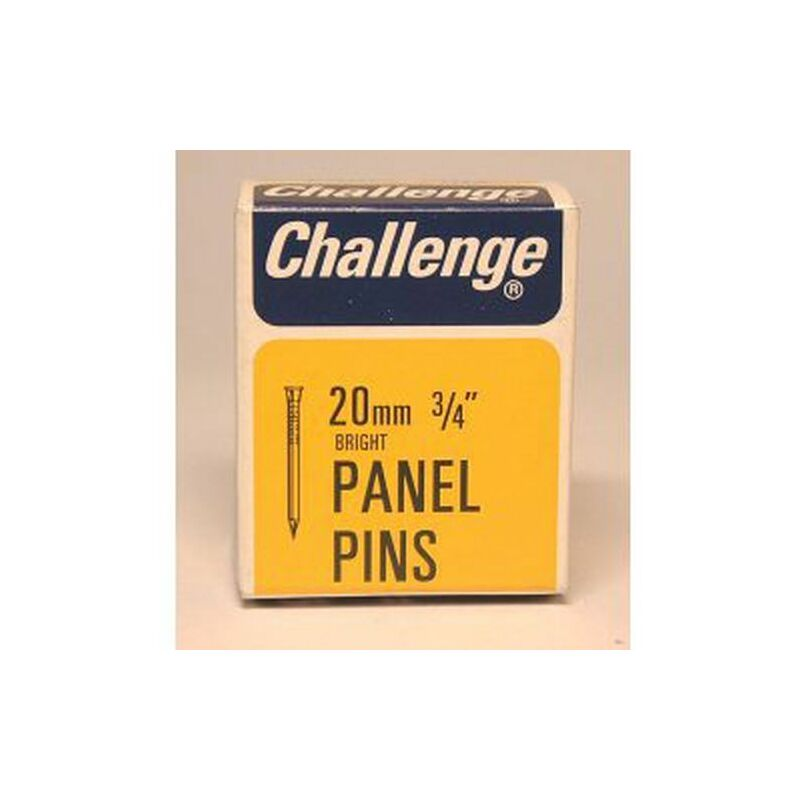 Panel Pins - Bright Steel (Box Pack) 20mm - 10606 - Challenge