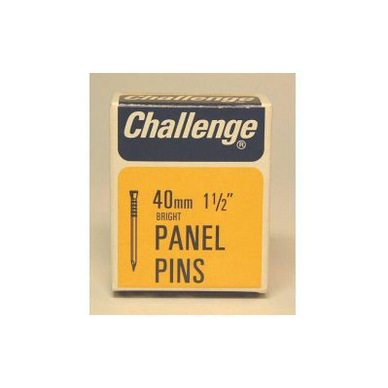 Challenge Panel Pins - Bright Steel (Box Pack) 40mm - 10612