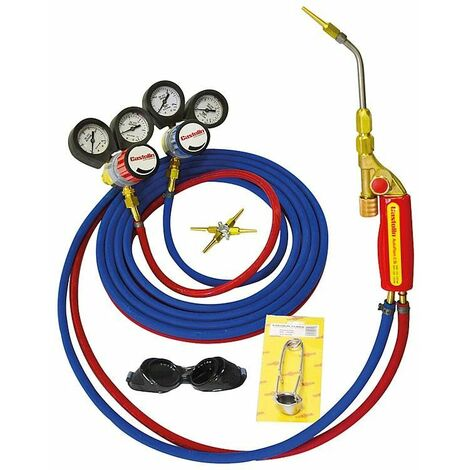 Chalumeau en kit PractiFlam SI avec détendeur Typhoon pourte gicleurs avec 5 gicleurs