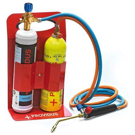 Chalumeau OXYGAZ KHW GASEX 3100°PROVIDUS. BI GAZ Oxygène + GASEX Propane mix Accessoires lunette soudure inclus. Prêt à souder.