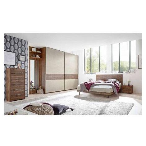 Chambre Complete Nougat Lit 160x200 Cm Avec Coffre De Rangement