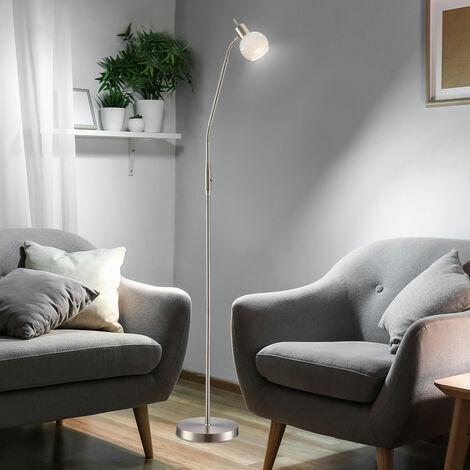 chambres à coucher lampadaire LED de luxe se distinguent lampe de lecture Flexo argent uplight Globo 54341-1S