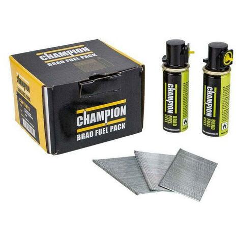 Champion 16G 38mm 2nd Fix Straight Galvanised Brad Nails 2000 PCs + 2 Fuel Cells