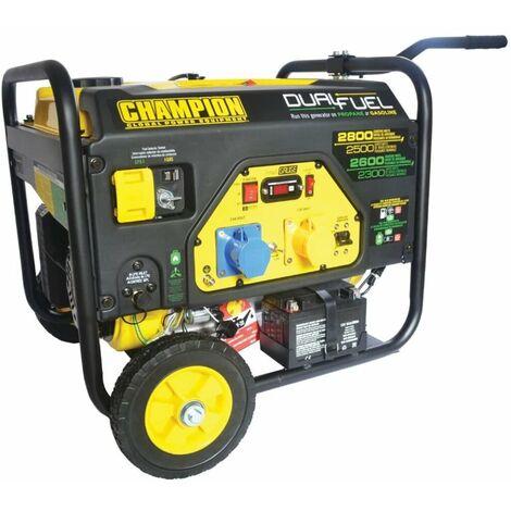 Champion 2800 Watt Dual Fuel Generator with Electric Start CPG3500E2-DF