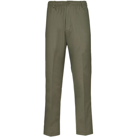 Champion Grafton Mens Elasticated Waistband Polycotton Chino Trousers 2 Lengths