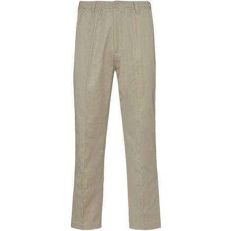 Champion Grafton Mens Elasticated Waistband Polycotton Chino Trousers 2 Lengths