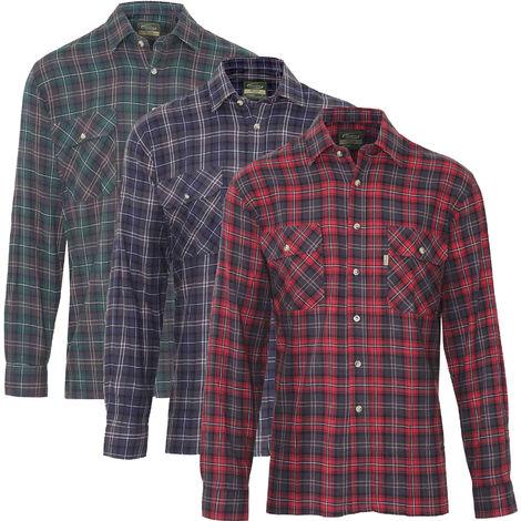 3 Pack Of Mens Champion Kilbeggan Country Casual Long Sleeved Shirt Mixed XL