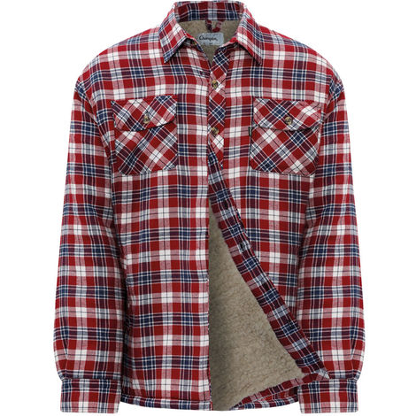 Champion Mens Pennine Fleece Lined & Padded Lumberjack Shirt