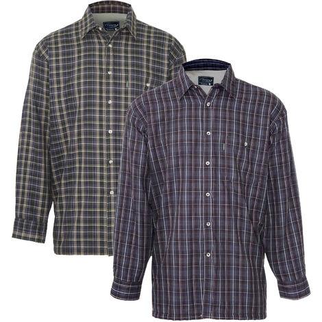 Champion Mens Sherbourne Fleece Lined Shirt (Pack of 2)