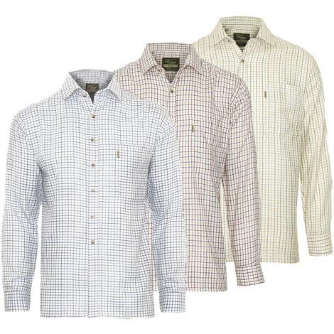 Champion Mens Tattersall Check Long Sleeve Shirt (Pack of 3)