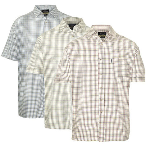 Mens Champion Country Style Casual Short Sleeved Shirts 3 Pack 4XL