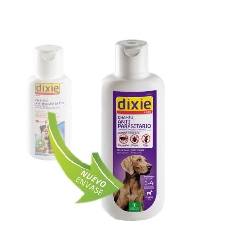 Champú DIXIE 1L antiparasitario anti pulgas, garrapatas y piojos