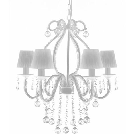 Chandelier with 2300 Crystals White QAH30888