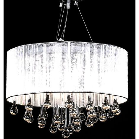 Chandelier with 85 Crystals White VD30891