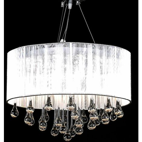 Chandelier with 85 Crystals White VDTD30891