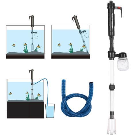 Changeur d'eau electrique pour aquarium, laveuse de sable pour aquarium et toilettes, expedies sans piles, reglementations de l'UE