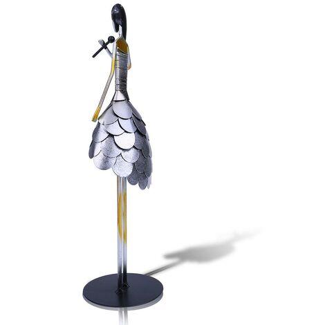 Chant fille sculpture en metal artisanat peinture ecologique ala main