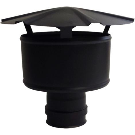 Chapeau anti-intempérie noir - Ø 80