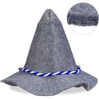 Bavarois BlancDe Chapeau Une Corde Et BavaroisHommes Bleu Bord FemmesGrisLarge Avec Feutre 8O0knPw