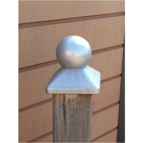 Chapeau boule pour poteau bois 9X9