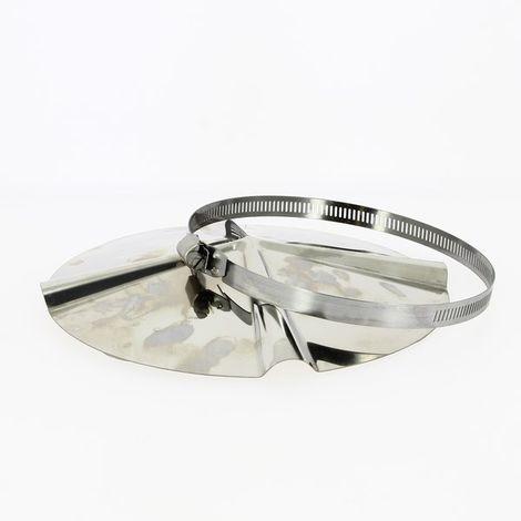 Chapeau de toit chinois inox pour tubage O153-180