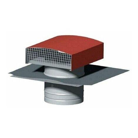 Chapeau de toiture métallique CT 250 - ø250mm - Tuile
