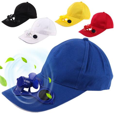 """main image of """"Chapeau de ventilateur solaire chapeau publicitaire chapeau de protection solaire chapeau de bec de canard casquette de baseball chapeau de parasol pour hommes et femmes peut imprimer le chapeau de fan de LOGO-noir"""""""
