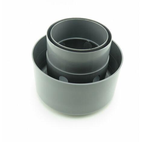 Chapeau de ventilation 100/110/125 - gris