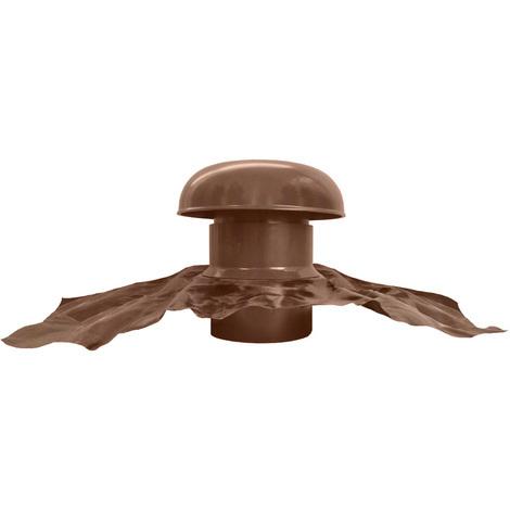 Chapeau de ventilation avec bande plomb Ø160mm - Marron