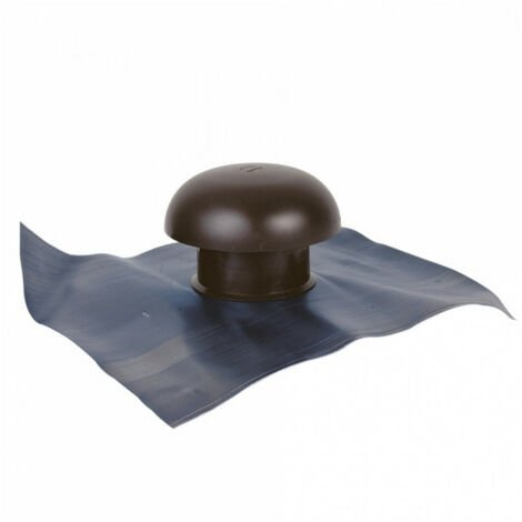 Chapeau de ventilation avec collerette d'étanchéité - Ø100mm - tuile GIRPI