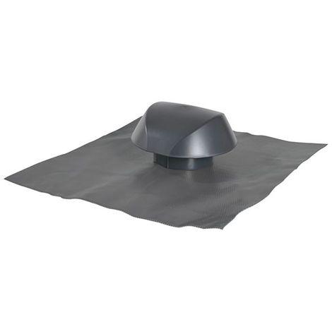Chapeau de ventilation avec collerette d'étanchéité Ø125 anthracite Atemax