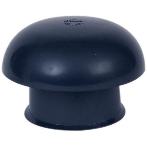 Chapeau de ventilation O100 ardoise moustiquaire