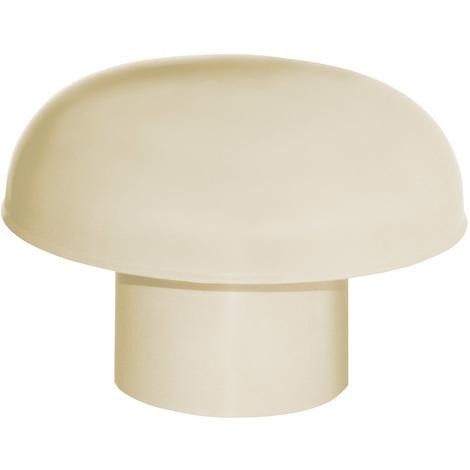 Chapeau de ventilation PVC sans moustiquaire - Sable